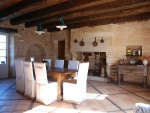 Perigord blanc, comfortable renovated monastery with guest house and pool
