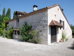 Quercy blanc, maison en pierre avec pigeonnier, piscine, puits, potager,