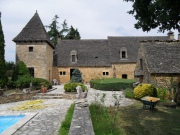 Manoir du XVIII�me en pierre et toit en Lauzes