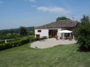 For sale large stone house with nice views, Tarn-et-Garonne region.