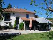 Bright spacious village house with garden, swimming pool and studio