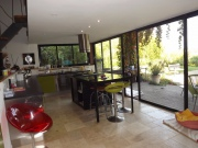 Character house renovated in a contemporary style with dominant views.