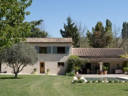 House with holiday house to rent, swimming pool and olive trees.