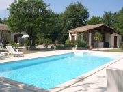 Near Cahors, modern built house with swimming pool summer kitchen.