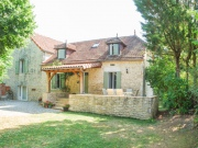 Lot, in a hamlet, country house and barn for gite, swimming pool
