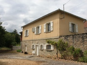 Old winegrower's house with garden in a village near Cahors