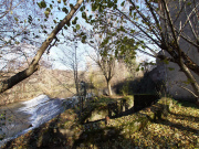 On tributary of the Garonne river, water mill from the 19th century