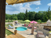 Large property with gîtes and two swimming pools, beautiful land for sale,