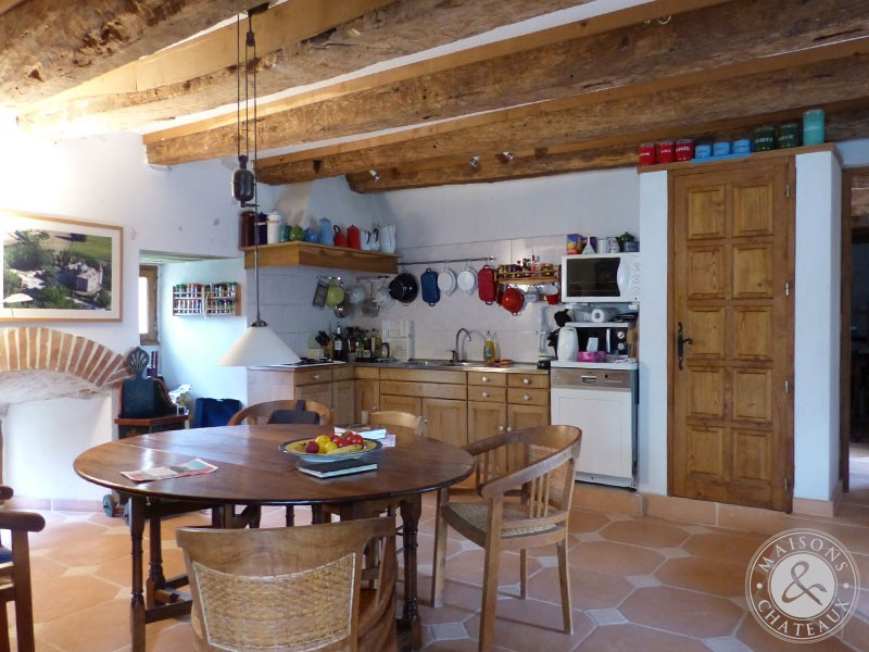 In The Quercy Blanc Medieval Castle For Sale