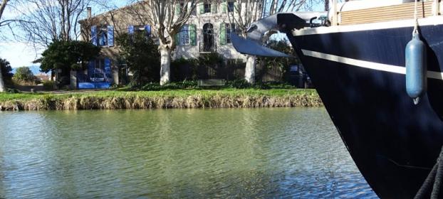 Maison de maître au bord du Canal du Midi