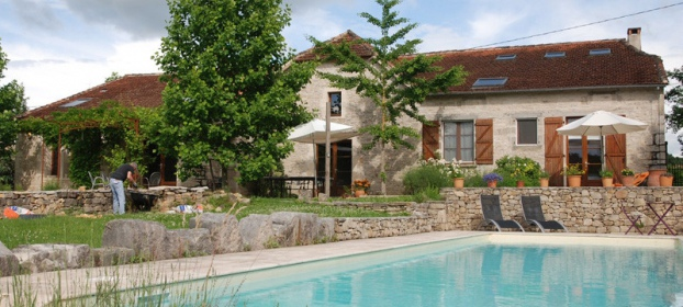 Charming character stone house with infinity swimming pool.
